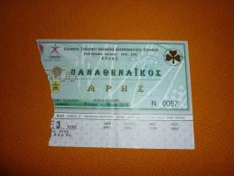 Panathinaikos-Aris Greek Championship Basketball Ticket 21/5/2006 - Tickets D'entrée