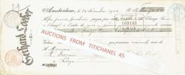 Reçu 1902 AMSTERDAM - GERHARD LOEBER - Papeterie - Pays-Bas