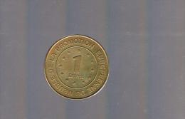 1 EURO De Promotion Européenne Du Meubles . 1 000 Exemplaires . RARE . - Euros Des Villes