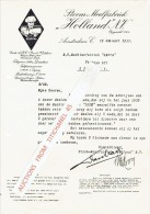 "Brief 1937 AMSTERDAM - ""HOLLAND"" N.V. - Stoom-Meelfabriek - Pays-Bas"