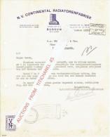 Brief 1935 AMSTERDAM - CONTINENTAL RADIATORENFABRIEK - Pays-Bas
