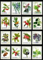 Complete Series Of 2012-2014 Berries Stamps (I-IV) Berry Flora Fruit Plant Medicine Coffee Edible - Drinks