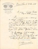 Vieux Papier - Ain - 01 - Virieu-le-Grand - Chaux Hydrauliques & Ciments - Jurron - Delastre - Bonnard - Mai 1885 - Sin Clasificación