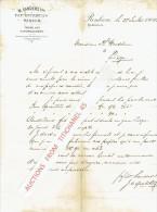 Brief 1900 RENKUM Bij ARNHEM - W. SANDERS Tzn. - Papierfabriek - Pays-Bas