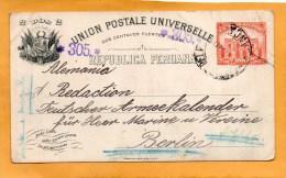 Peru Old Card Mailed To Germany - Peru