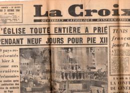 Le Journal La Croix Du Mardi 21 Octobre 1958 - Religion & Esotérisme