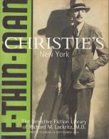 Catalogue Christies New York The Detective Fiction Library Of Richard M Lackritz Md Magnifique - Polars