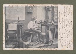Cpa Photographe E. Scheithauer - Cordonnier, Schuhmacher, Shoemaker, Enfant, Kinder, Children, Boy, Oiseau, Bird, 1906 - Illustrateurs & Photographes