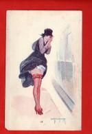 1413 -  Femme, Frau... Le Mauvais Temps Indiscret - L. Peltier - Série N°8 *39 - (recto-verso) - Illustratori & Fotografie