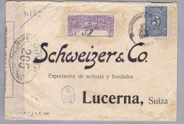 Kolumbien 1916-07-27 R-Zensur-Brief Nach Luzern - Colombie