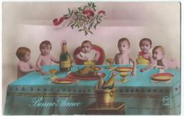Bébés/ Carte Humoristique/Bonne Année/Banquet/ Champagne/Montgeron/ S Et Oise/ CEKO/Paris / Vers 1910   HUM3 - Humorous Cards
