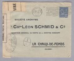 KUBA 1917-07-27 Zensur-Brief Nach La Chaux-de-Fonds Schweiz - Cuba