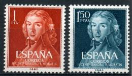 España 1961. Leandro Fdez Moratin. Ed 1328 / 1329. MNH. **. - 1961-70 Ungebraucht