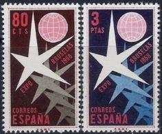 España 1958. Exposicion De Bruselas. Ed 1220 / 1221. MNH. **. - 1931-Heute: 2. Rep. - ... Juan Carlos I