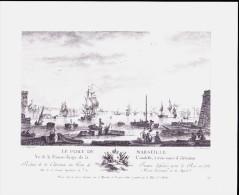 Reproduction De Gravure - Le Port De Marseille - Vieux Papiers