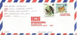 Seychelles 1991 Mahe Zil Elwagne Sesel Aldabra Coucal Butterfly Cover - Vlinders