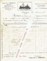 Factuur Geillustreerd 1913 VLAARDINGEN -M.C. VERBOON - Reederij - Heringhandlung - Pays-Bas