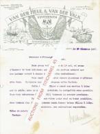 Factuur Geillustreerd 1927 VLAARDINGEN - VAN DER HEUL & VAN DER VALK - Groothandel In Haring - Pays-Bas
