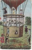 Bébés/ Carte Humoristique/Bébés Dans Nacelle D'aérostat/ Saint Jean Le Thomas / Manche /1907   HUM8 - Humorkaarten