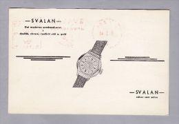 MOTIV UHREN SVALAN 1940-01-03  Göteborg Firmen Freistempel Auf Illustrierter Karte - Horlogerie