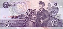 COREE DU NORD  5 Won  Daté De 1998    Pick 40     ***** BILLET  NEUF ***** - Korea, North
