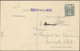 1 Centimes N°81 Surcahrgé BRUSSEL 11 BRUXELLES S/C.P. (vue S.A. Electricite & électromécanique Rue Bosquet) Vers Marcine - Precancels