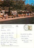 African Wood Carving Stalls, Mombasa, Kenya Postcard Used Posted To UK 1973 Nice Stamp - Kenya