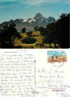 Mt Kenya, Kenya Postcard Used Posted To UK 1985 Nice Stamp - Kenya