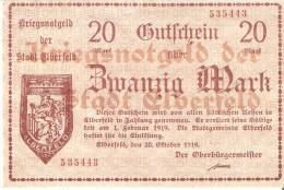 BILLETE DE ALEMANIA DE 20 MARK DEL AÑO 1919   (BANKNOTE) SIN CIRCULAR-UNCIRCULATED - [ 3] 1918-1933 : República De Weimar