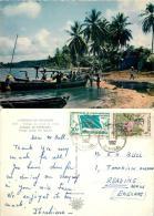 Seaside Village, Senegal Postcard Used Posted To UK 1962 Nice Stamp - Senegal