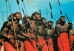 African Dancers, Tanzania Postcard Used Posted To UK 1969 Sapra Studio - Tanzania