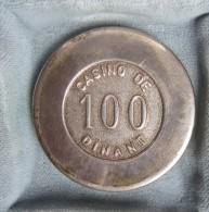 Ancien Jeton En Argent De 100 Francs Casino De Dinant - Casino