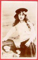 [DC6347] DONNA MODA - Viaggiata 1908 - Old Postcard - Moda