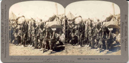 PHOTO-STEREO-ORIGINAL-VINTAGE-1901-CROW-INDIANS-W. GRIFFITH-PHILADELPHIA-TOP -LOOK AT 3 SCANS! ! ! - Visionneuses Stéréoscopiques