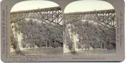 PHOTO-STEREO-ORIGINAL-VINTAGE-1901-CIRCUS-STUNTMAN -CALVERLEY-NIAGARA-GRIFFI TH-ZAHNER-LOOK AT 3 SCANS-TOP-NEVER SEEN! - Stereoscoopen
