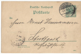 Germany 1893  Eiserfeld - Stuttgart (5.7.93) P30 I - Alemania
