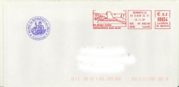 EMA Rouge SC 867819 Hérouville St Clair CC T1 Calvados + Flamme Bernières Sur Mer 14 Sur Env De La Mairie - Postmark Collection (Covers)