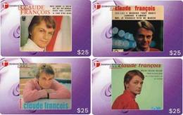 M08395 China Phone Cards Claude Francois 40pcs - Musique