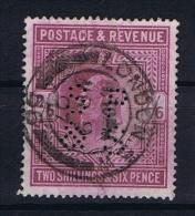 Great Britain SG  260?  Used  1902 Yvert 118  PERFIN   SP & S - 1902-1951 (Koningen)