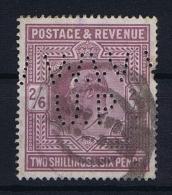Great Britain SG  260?  Used  1902 Yvert 118  PERFIN   WW UP - 1902-1951 (Koningen)