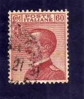 ITALIA REGNO ITALY KINGDOM 1917 1920 EFFIGIE RE VITTORIO EMANUELE KING EFFIGY CENT 60 USATO USED - 1900-44 Victor Emmanuel III