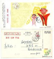 Carte Postale Chine China Cerfs-Volants KITE 1999 Entier Postal - Cina