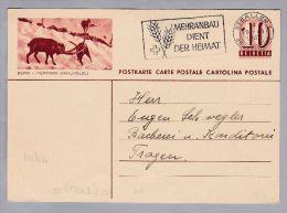 Motiv Zoo Steinbock Bildpostkarte 1943-03-19 Zu#158.020 Bern-Tierpark Dählhözli - Animaux & Faune
