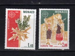 Monaco Timbres De 1981 Neufs** N°1273 Et 1274  Europas - Monaco