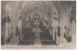 """HERMIVAL LES VAUX  -  Près Lisieux  """"INTERIEUR DE L'EGLISE  -  SOUVENIR DE LA FETE JEANNE D'ARC (21 Septembre 1913) - France"""