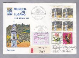 """Schweiz Automatenmarken 1977-06-19 Lugano R-Brief Mit Zu# 1 IV """"A4"""" - Automatic Stamps"""
