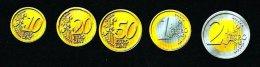 """5 PIECES = 1 Set """"PVC"""" EURO Coins, Scolaire, Spielgeld, Educativgeld, Play Money, Plastic, UNC - EURO"""
