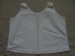 Ancien - Chemise Sans Manche Pour Bébé Ou Poupon Monogramme DB Coton Blanc - Children