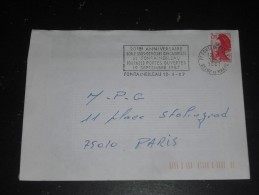 FONTAINEBLEAU - SEINE ET MARNE - FLAMME TEMPORAIRE ECOLE SOUS OFFICIERS GENDARMERIE - - Marcophilie (Lettres)