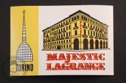 Hotel  Majestic Lagrange - Torino, Italy - Original Luggage Hotel Label - Sticker - Etiquetas De Hotel